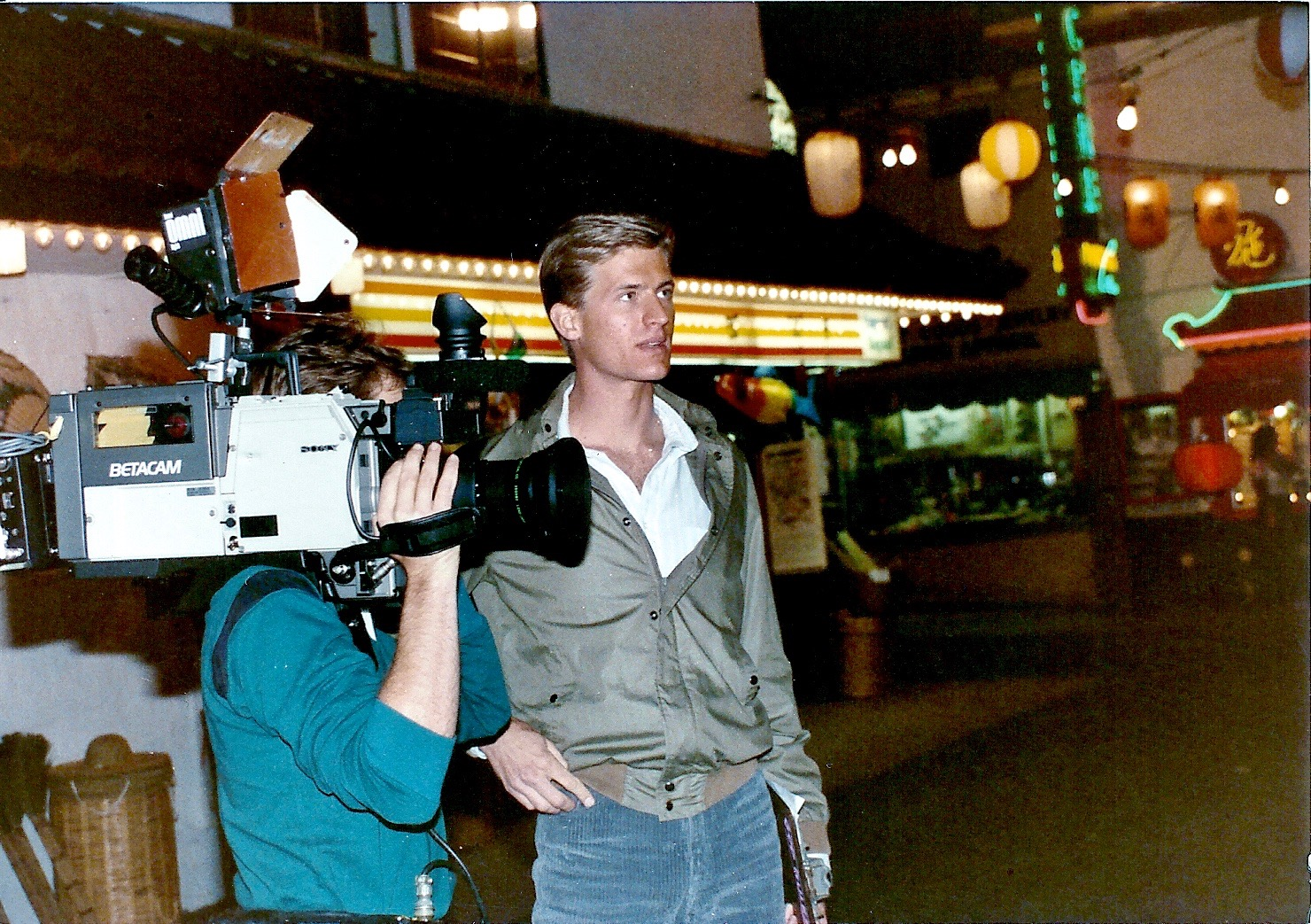 Shooting the 2nd episode of Real Videos in 1984 in LA's Chinatown. The show went on to run for 25 more years.