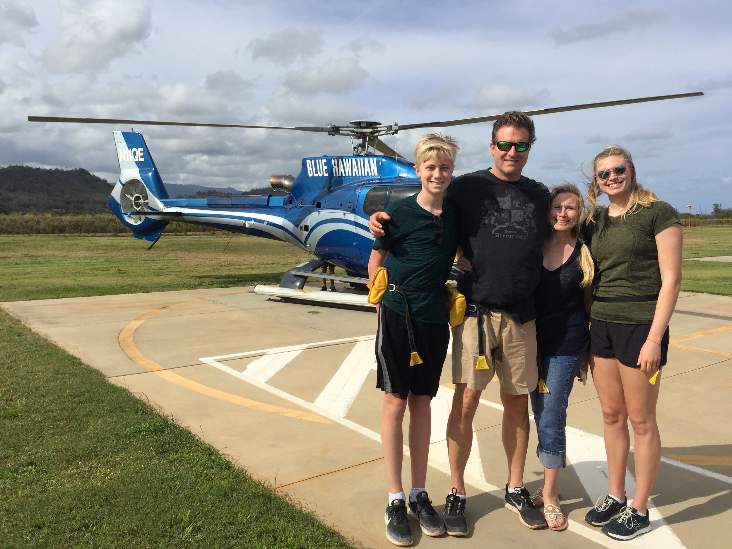 The Hodsons tried to helicopter from Kauai to Japan in 2017 before turning back after a few minutes due to limited fuel capacity.