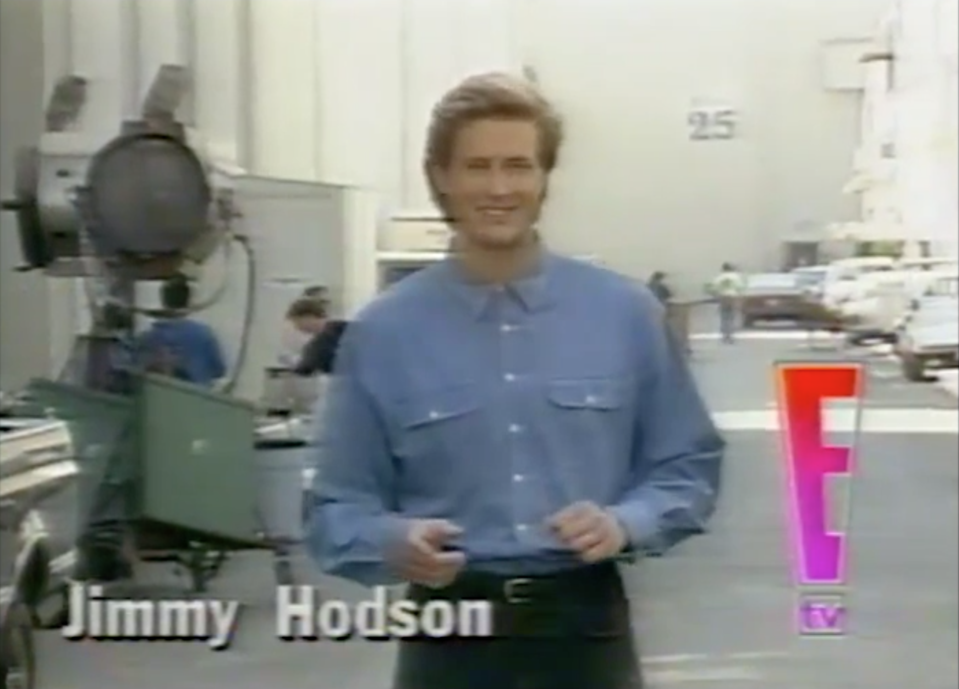 E! Entertainment Television produced a pilot for a half-hour syndicated show with Willow Bay as host and Jim as the backlot studio reporter in 1995.