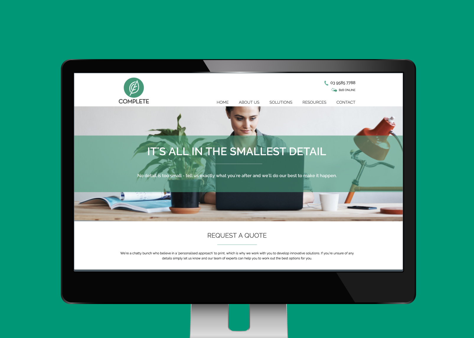 Content was created and photography sourced by Gloss Design for the Complete website.
