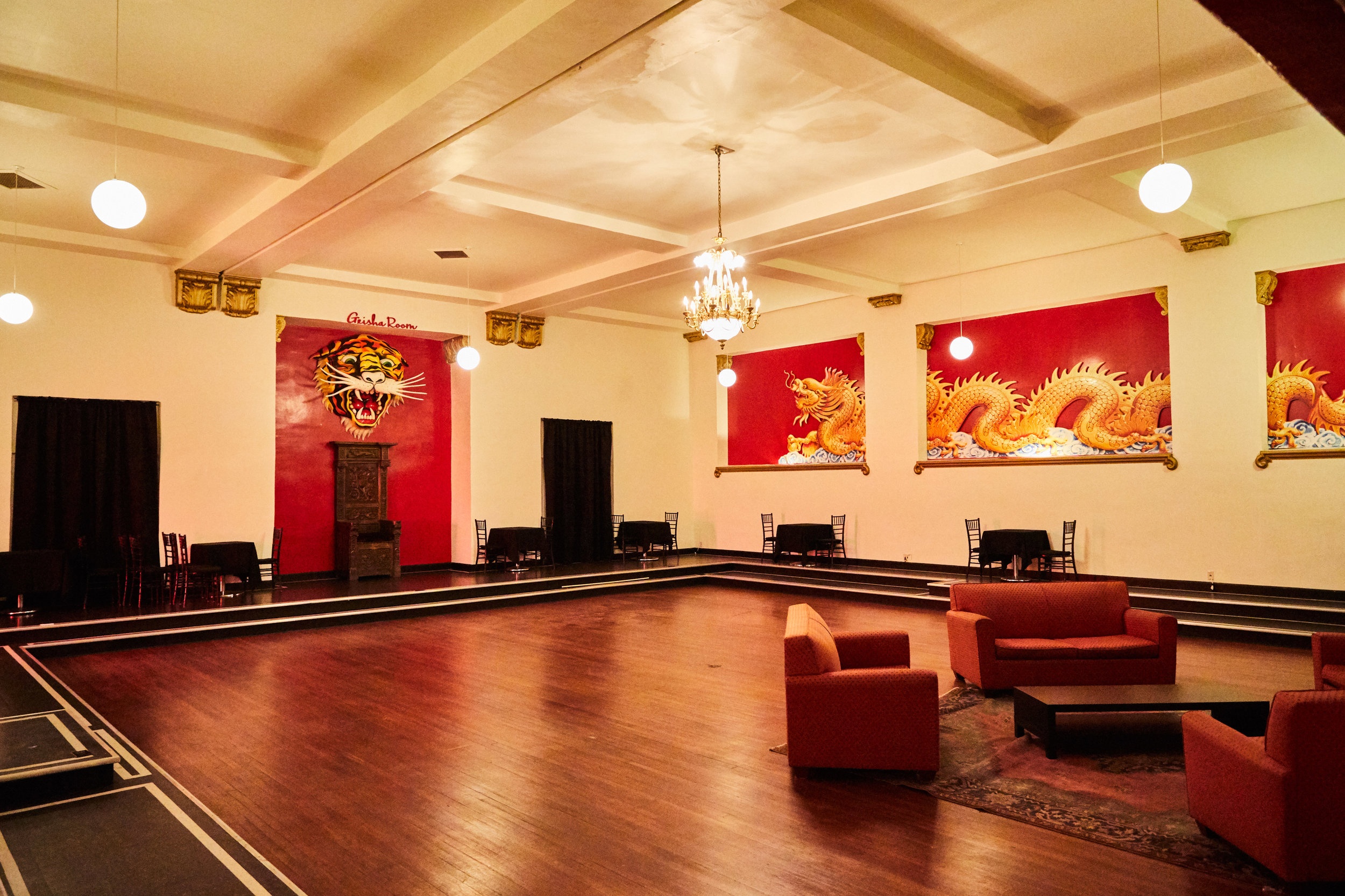 GEISHA ROOM - 1,569 sq. ft. | Capacity: 150 (cocktail only)