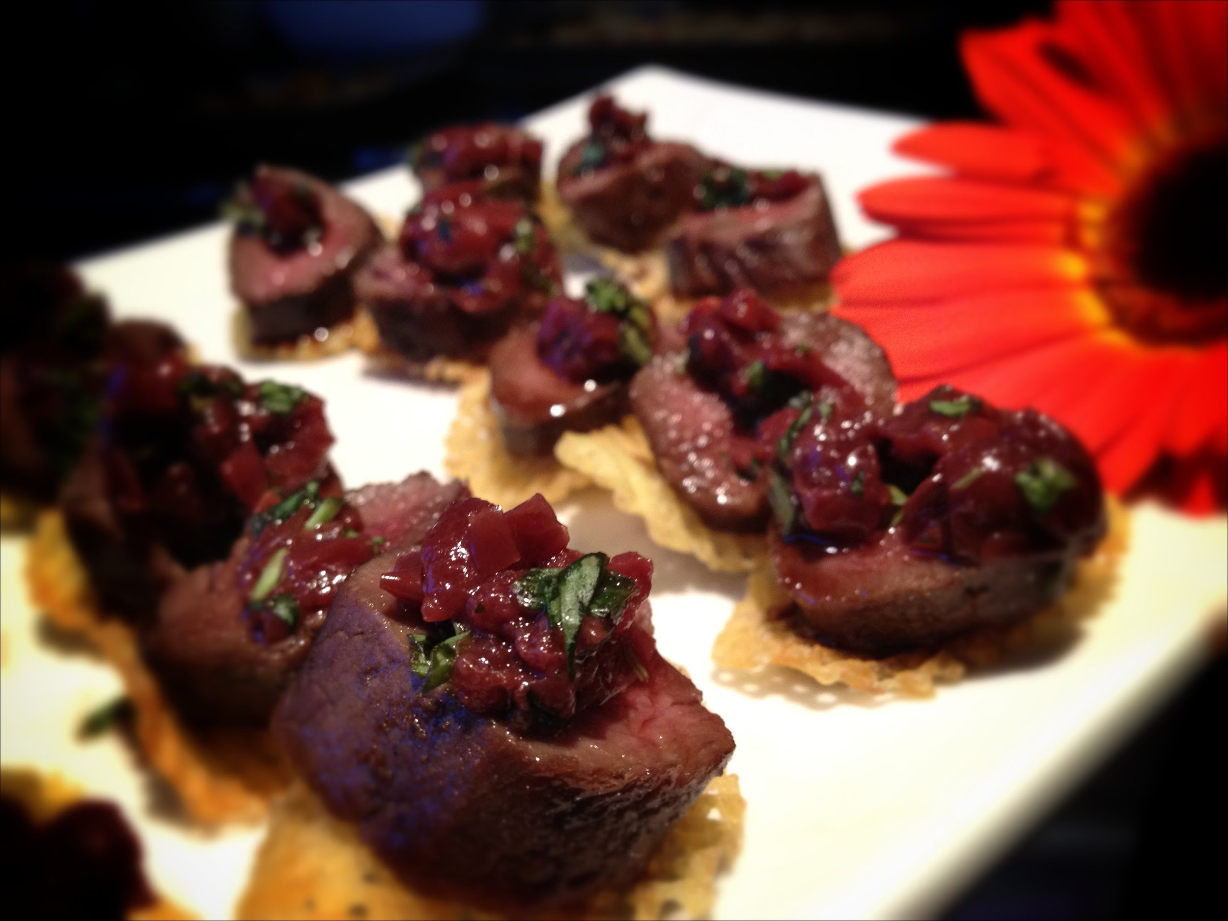 photo and fillet canape