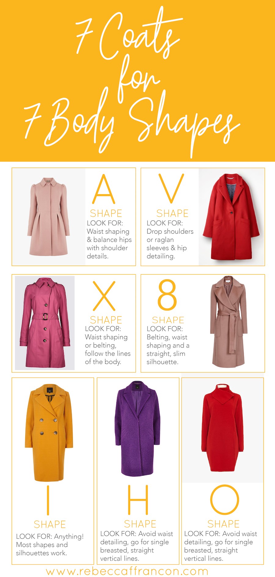 look for a coat that fits your body shape as well as your personality and lifestyle. here are my tips for coats to suit each body shape.
