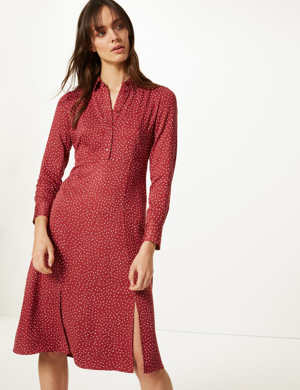 M&S red dress £45