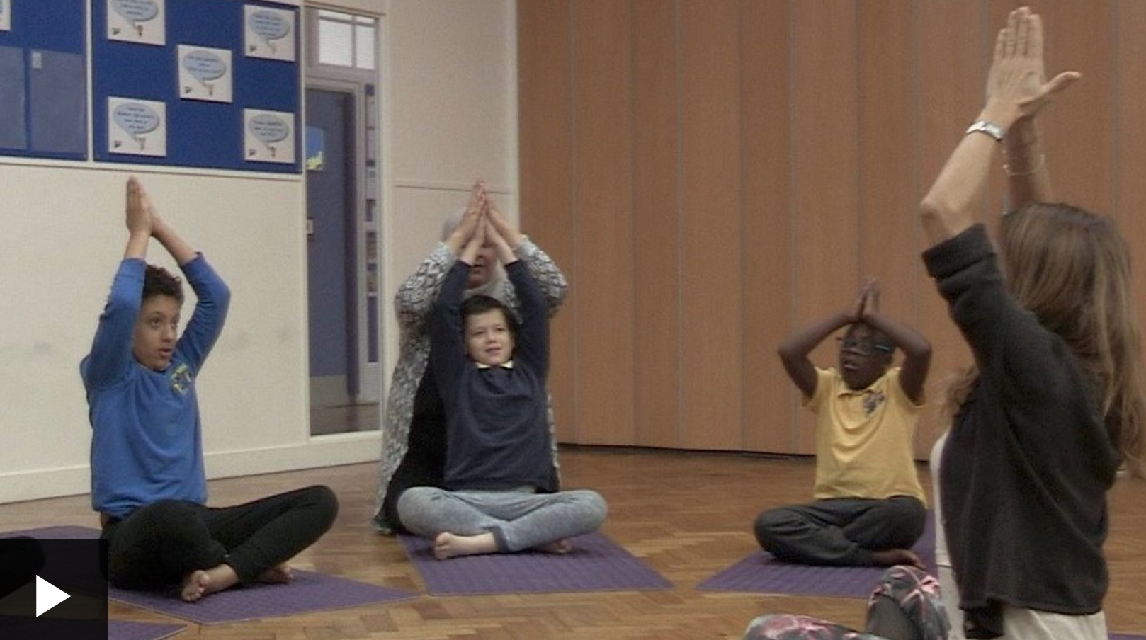 BBC News: Yoga Tells the Worries To Go Away