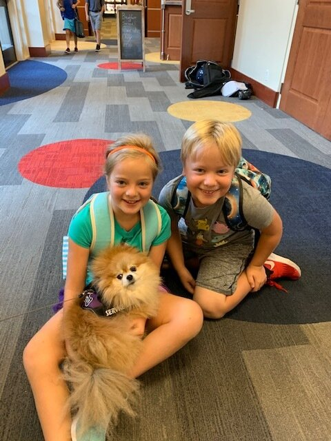 On a Mission To Bring Peace and Joy to Kids - by Sammy the Therapy Dog, Lausanne Collegiate School, Memphis