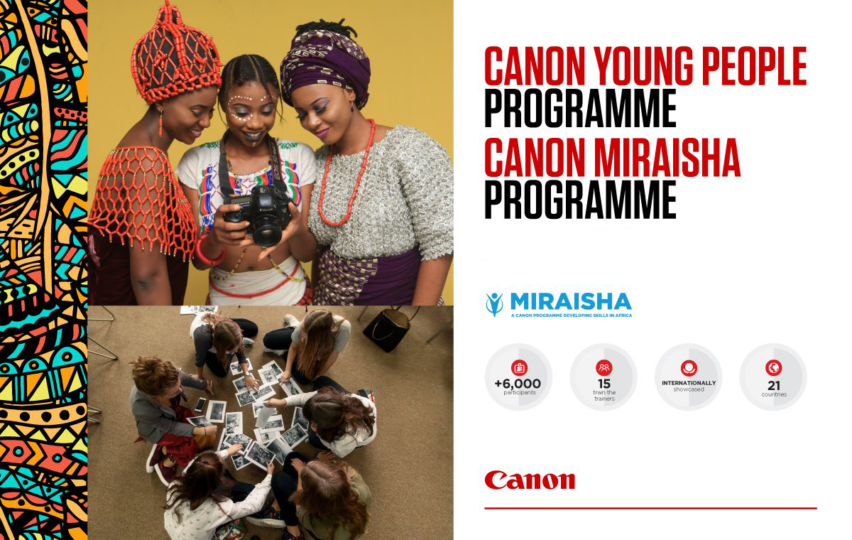CANON MIRAISHA - The programme, run closely with Canon Central & North Africa and has trained over 3,500 participants since its inception in 2014, aims to promote job opportunities in Africa by offering workshops to photographers, videographers, film-makers and print business owners.Canon Trainers provide people with the skills to develop their careers in professional photography or print by utilising Canon's core expertise in imaging and its network of professionals. Initiatives range from fashion and street photography classes to filmmaking workshops and print training for SMEs.Teddy specifically runs the Basic, Speedlight and Fashion Photography Africa-wide workshops.