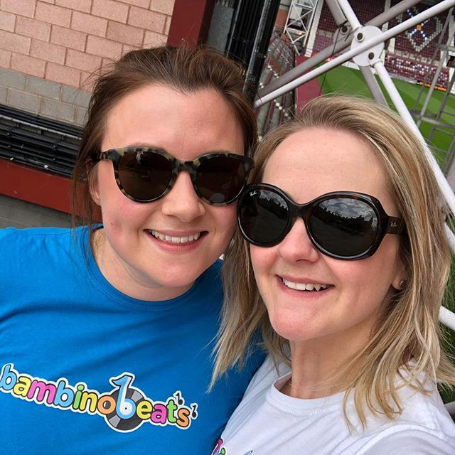 Amy and Clare had an AMAZING day helping @dadsrockedin celebrate Father's Day at @bigheartscommunity Tynecastle today. #sundayfunday