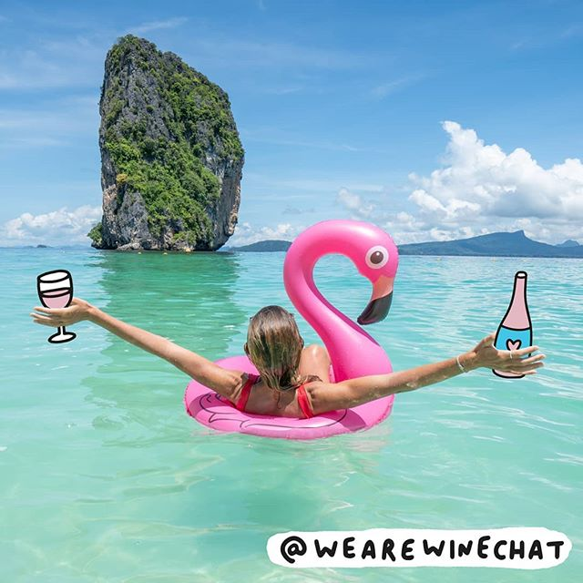 Places we'd rather be...😍 . . #wine #winechat #wearewinechat #veronicadearly #summer #new #pinkaf #rosé #pink #holiday #winelovers