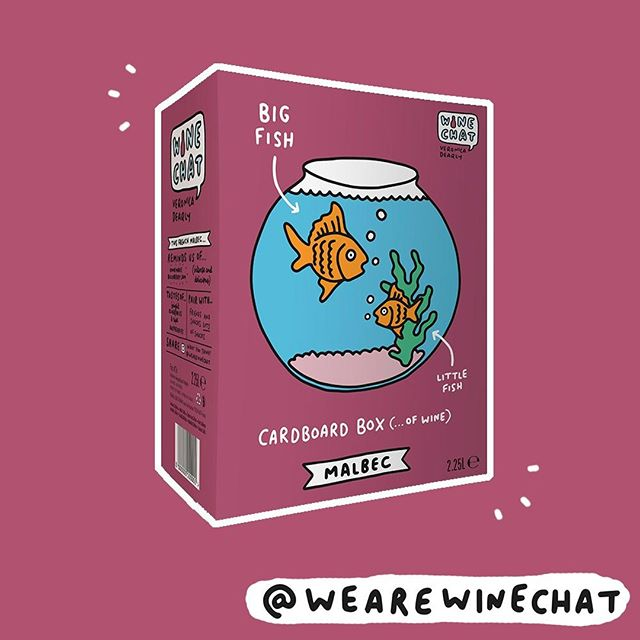 AVAILABLE IN @Sainsburys RIGHT NOW! 🍷🐠 . . #wine #winelovers #winetime #wineoclock #malbec #baginbox #fish #sainsburys #bigfishlittlefish #veronicadearly #winechat #wearewinechat #new