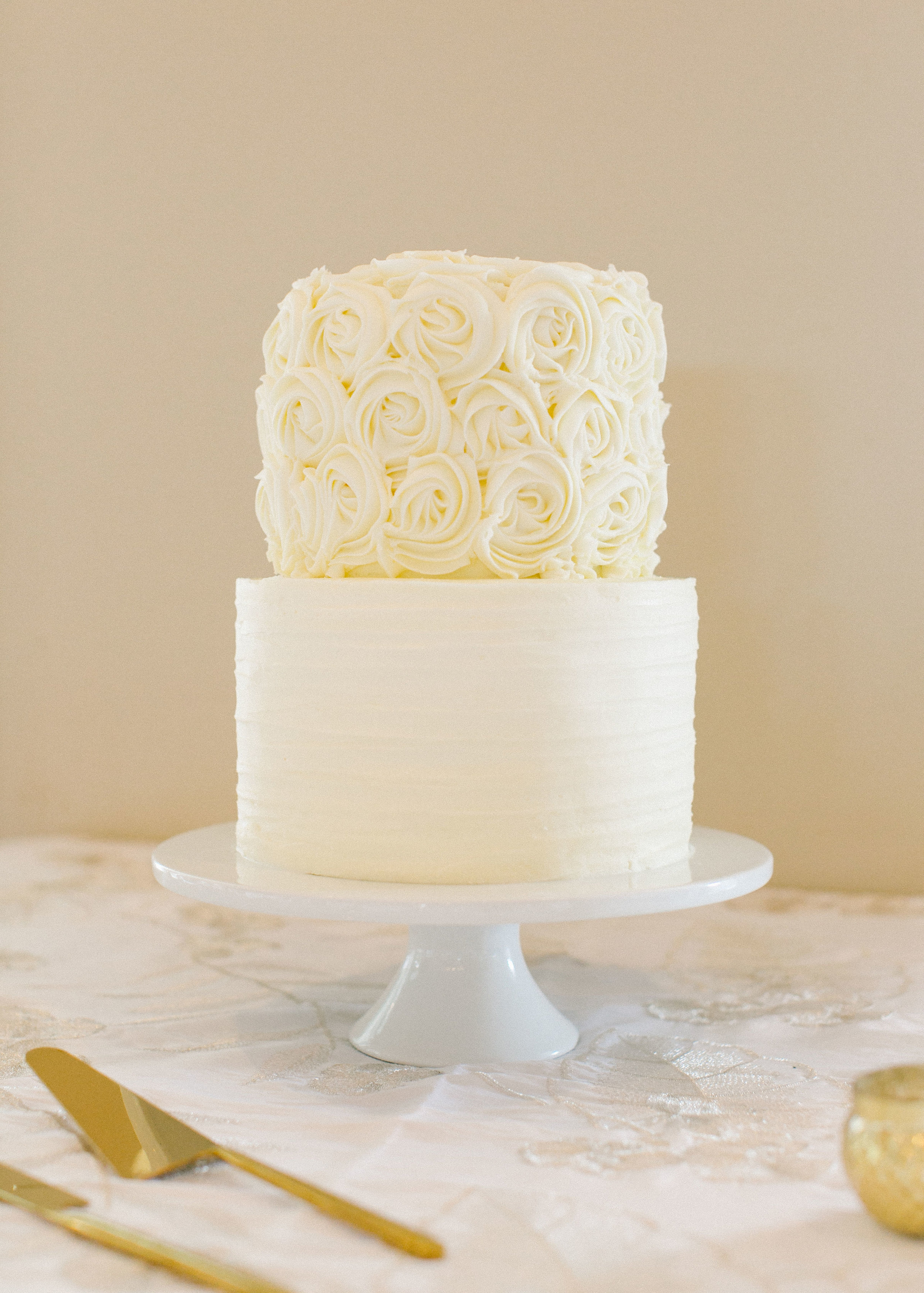 This amazing wedding cake was created by  The Phoenix Bakery  of Pittsboro, NC. Photo credit:  L'amour Foto .