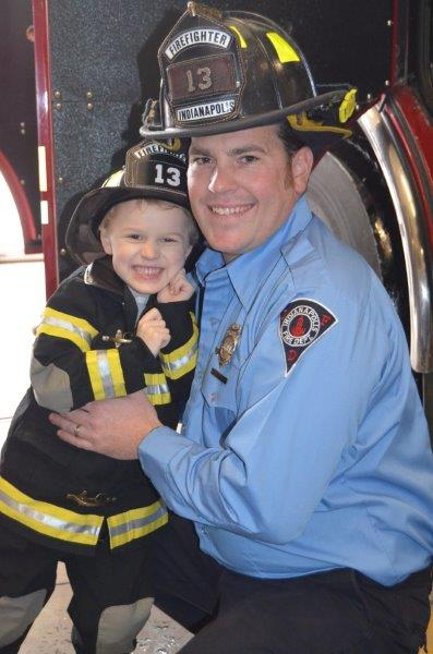With IFD Firefighter Bradley Morris