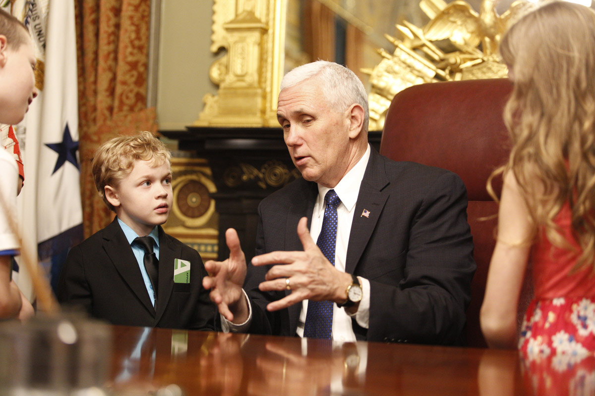 Story Time with VP Pence