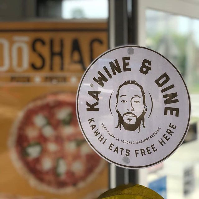 Kawhi Leonard wine and dine for free at DoShack!! #kawineanddine #wethenorth
