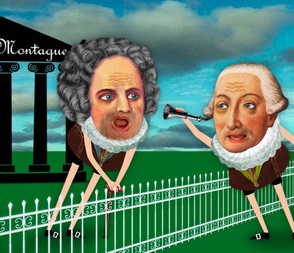 """Urgroßvater Montague / sagte eines Montags zu / dem Urgroßvater Capulet: / """"Ich find Dich eig'ntlich nicht so nett!"""""""