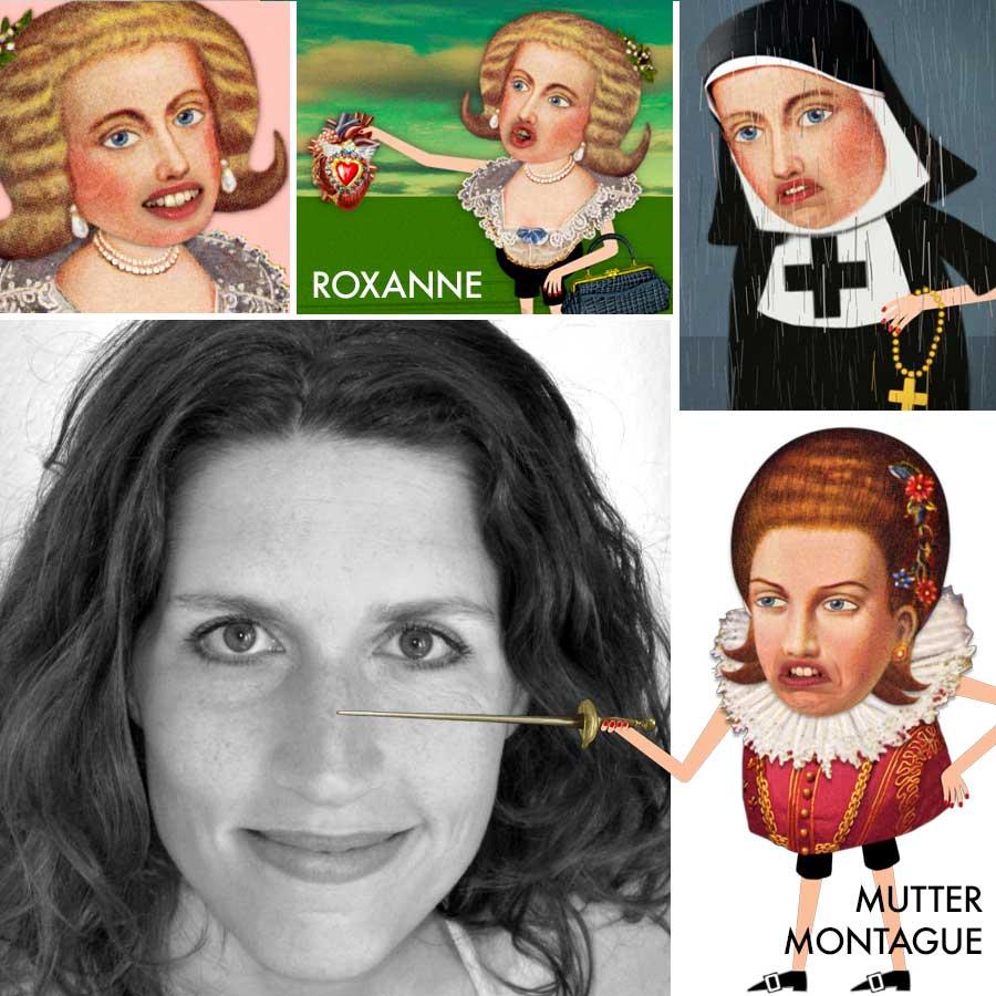 Christine Prayon  Schauspielerin, Kabarettistin - Roxanne bei CYRANO DE BERGERAC, Mutter Capulet und Mutter Montague bei ROMEO & JULiA •  christineprayon.de