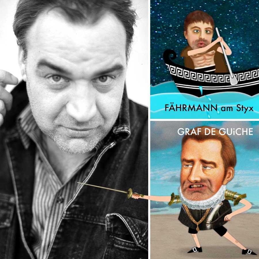 MIchael Miensopust  Schauspieler, Regisseur, Theaterautor - Fährmann am Styx bei ORPHEUS & EURYDiKE, Graf de Guiche bei CYRANO DE BERGERAC •  michaelmiensopust.de