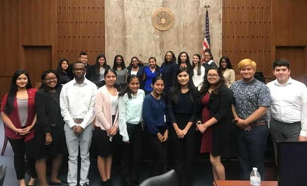 Houston Bar Association/CIS legal interns had the opportunity to visit judges like the Honorable Vanessa Gilmore.