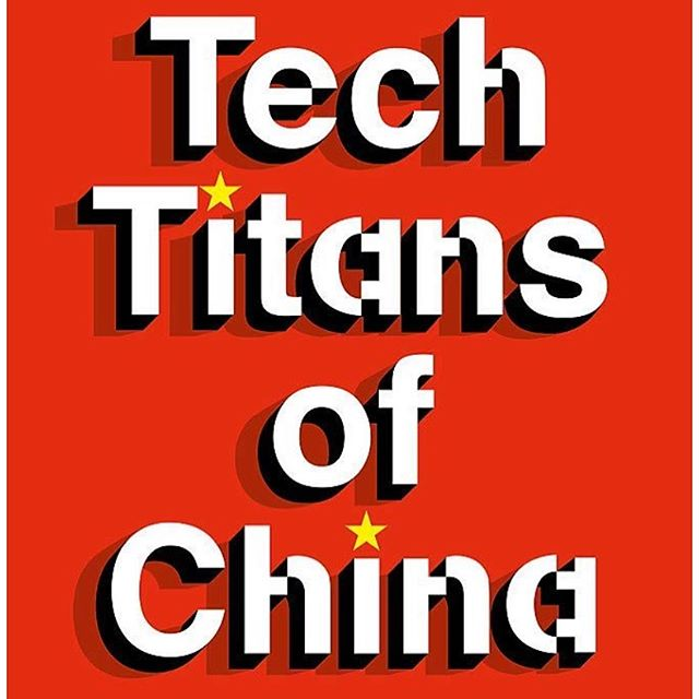 Reading Rebecca Fannin's new release #techtitansofchina outlining Chinese tech innovation