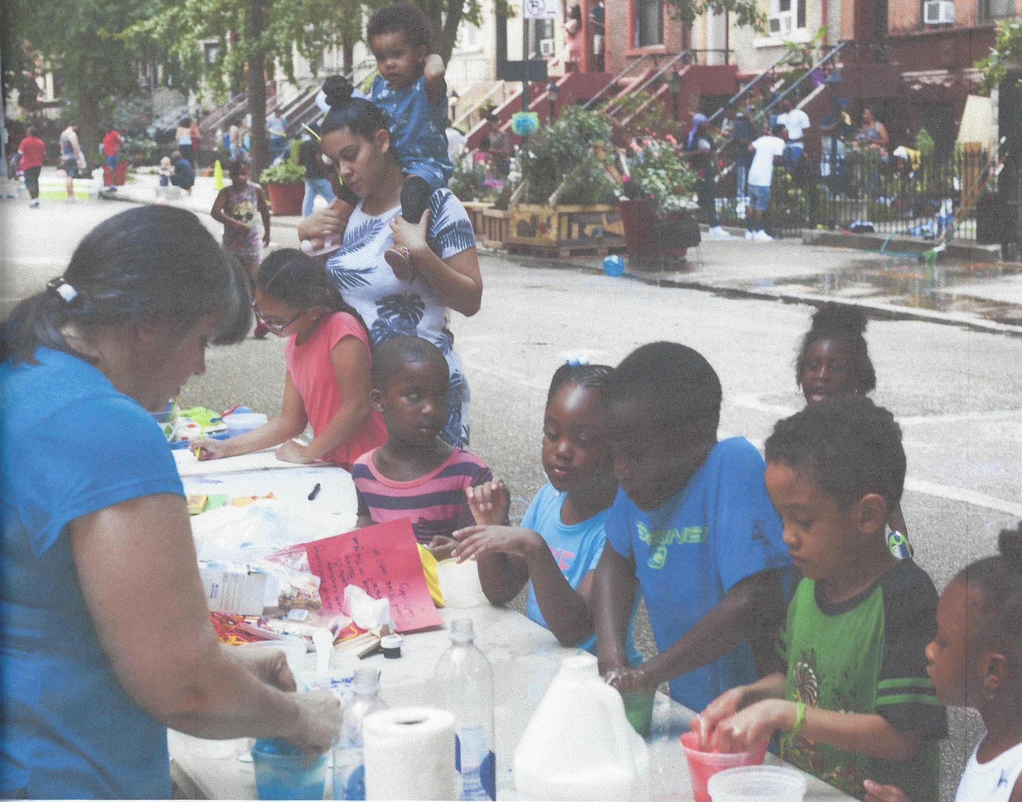 Children at the block party