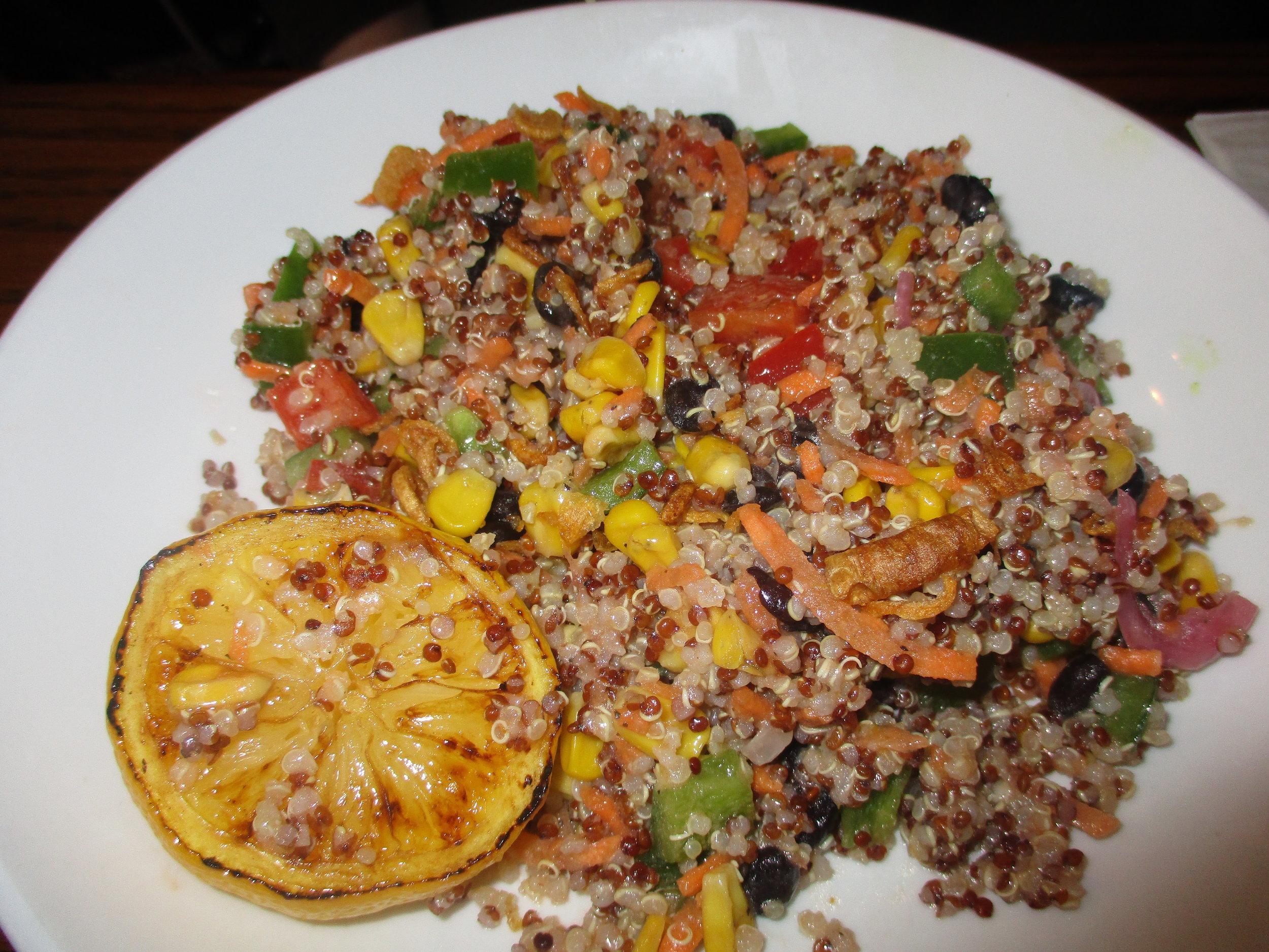 Quinoa salad at Colina Cuervo with lemon
