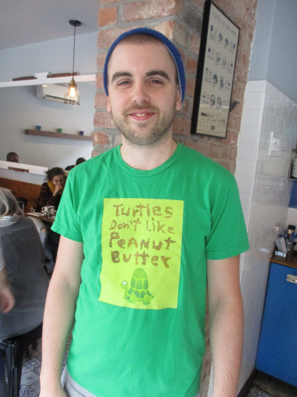 Shirt put out be Stephen Colbert's political action committee. Yeah, that thing about turtles....
