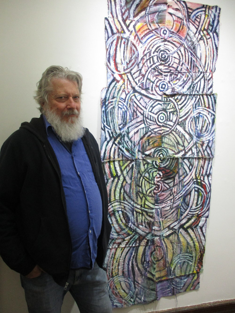 "Lawrence Swan with ""Tree of Life"""