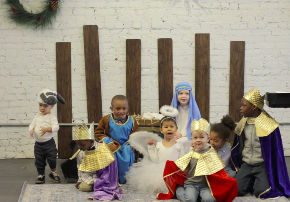 Christmas event children's pageant