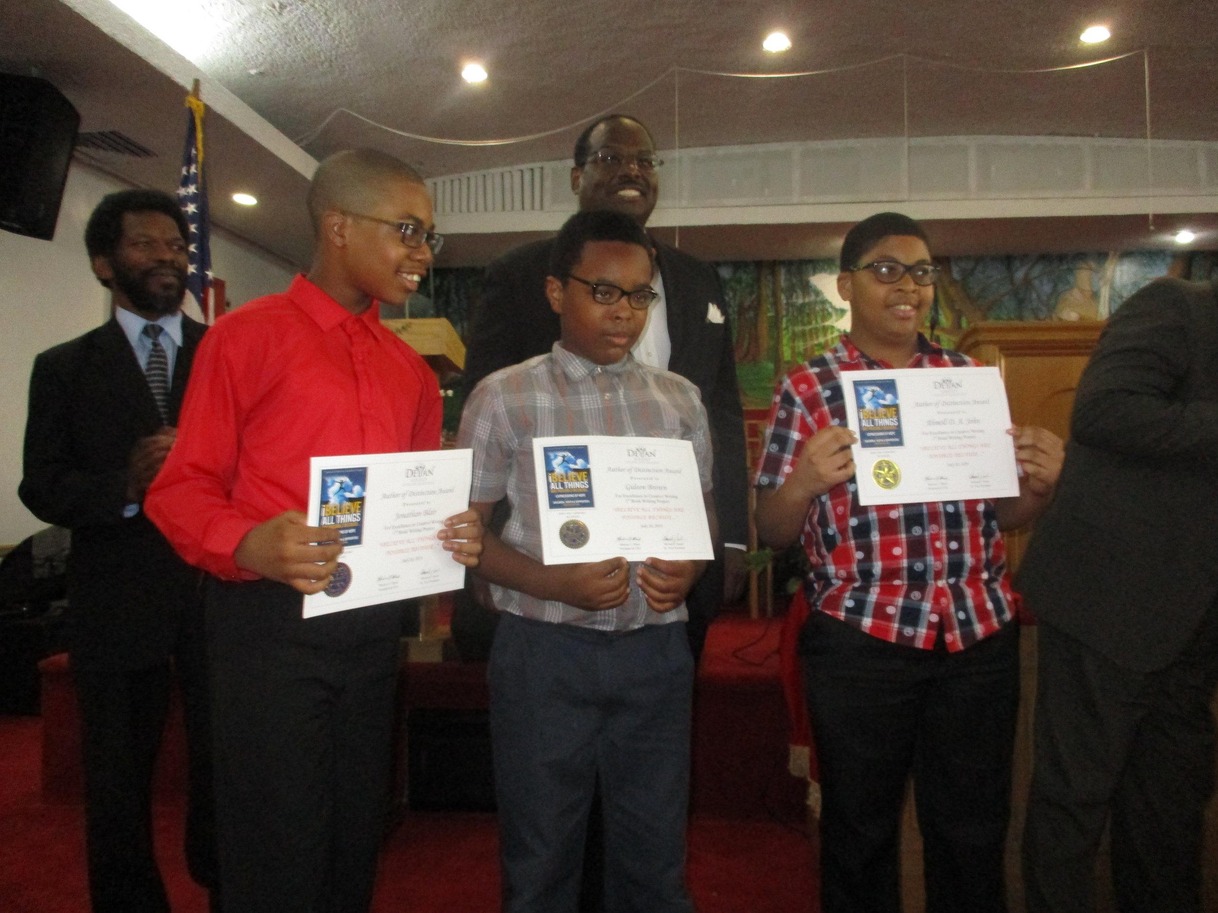 17 Winners in Shiloh Book Project.JPG