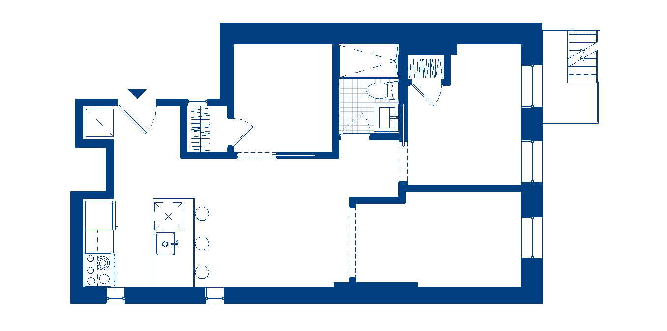 2 Bedroom Study