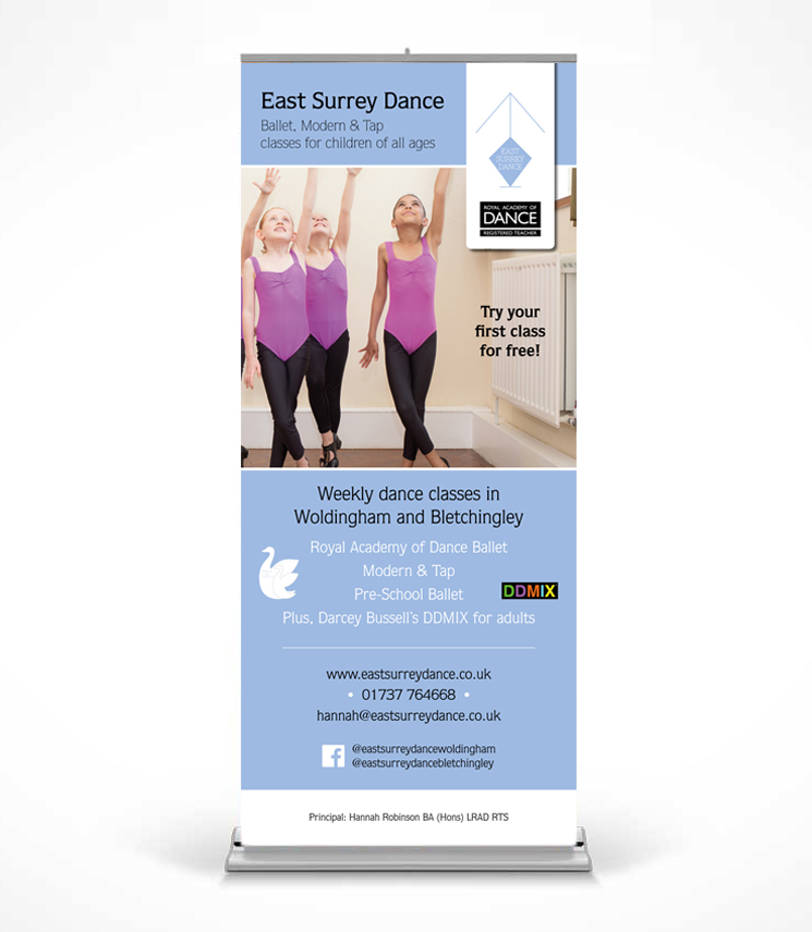 East Surrey Dance Roller Banner