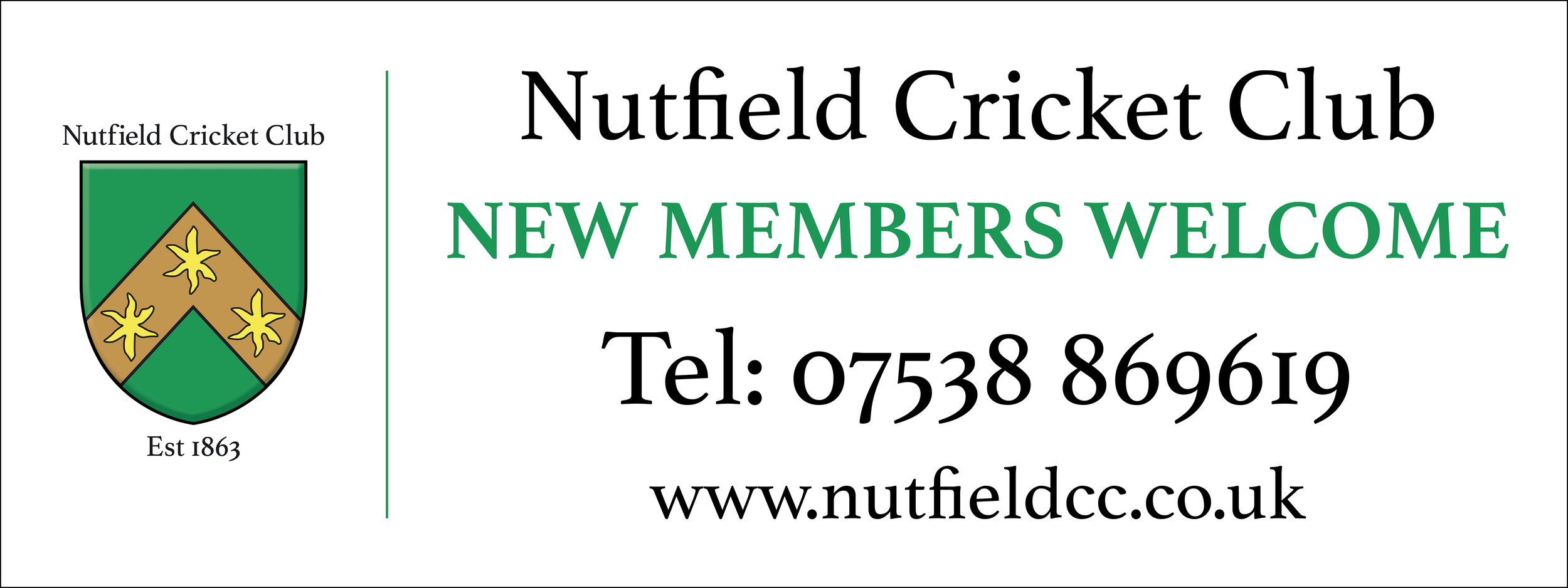 Nutfield Cricket Club Vinyl Banner