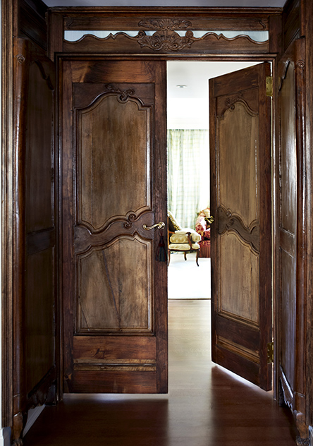 18 C walnut armoire doors