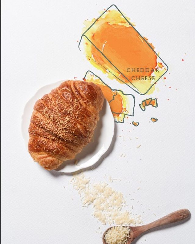 Be happy with a cheddar croissant!  Which one is your favorite? 🤔 # happycroissant #presentbakery #presentculture