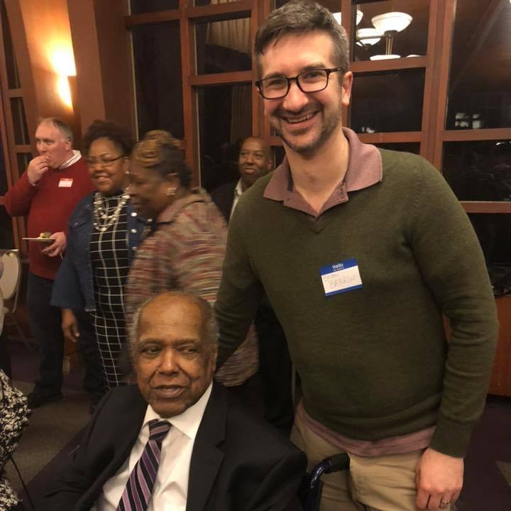 Bryan with the late Rev. Howard Haywood, a lifetime affordable housing advocate and Ward 2 resident