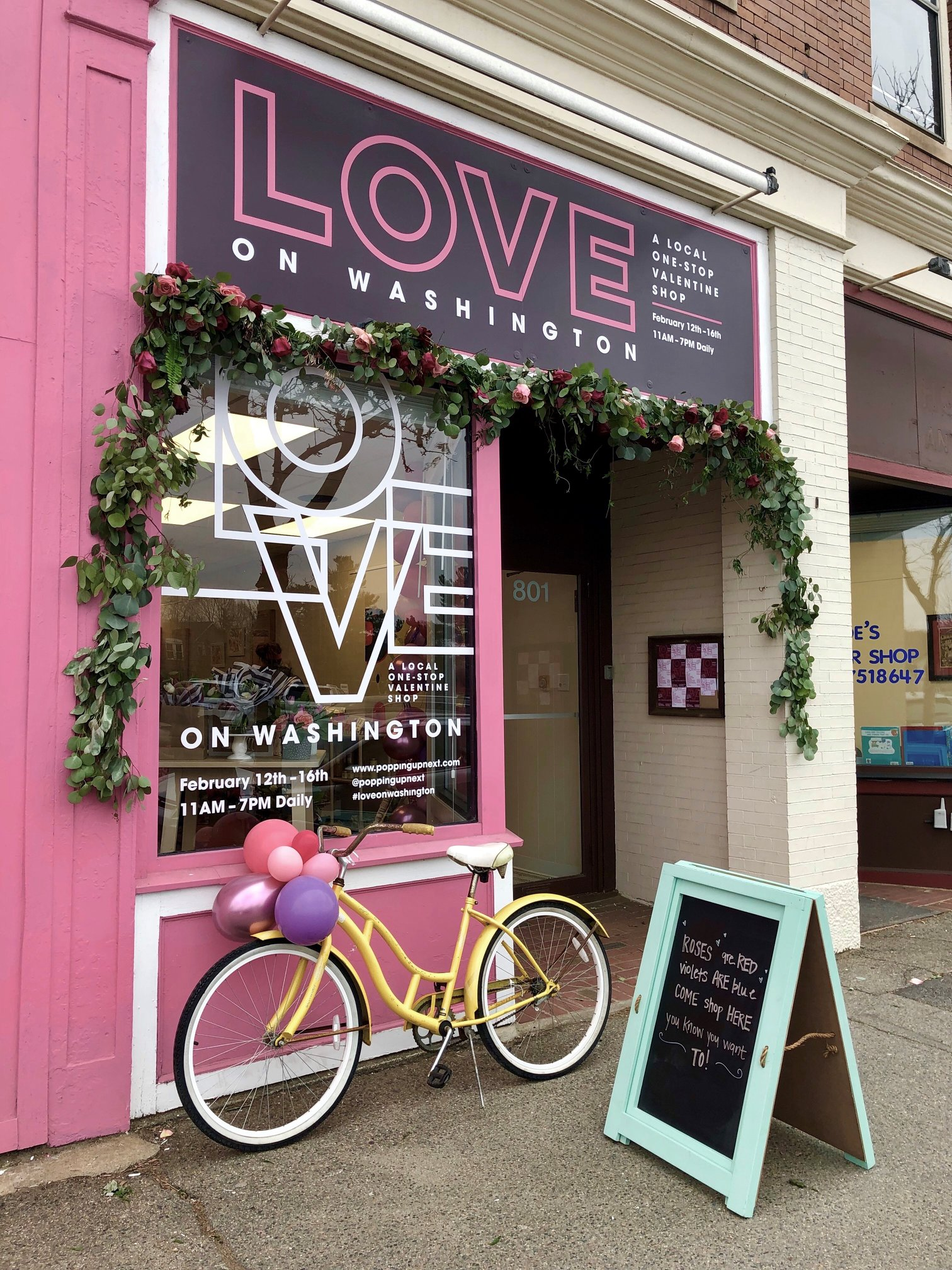 Washington Street Valentine's Pop-Up Shop