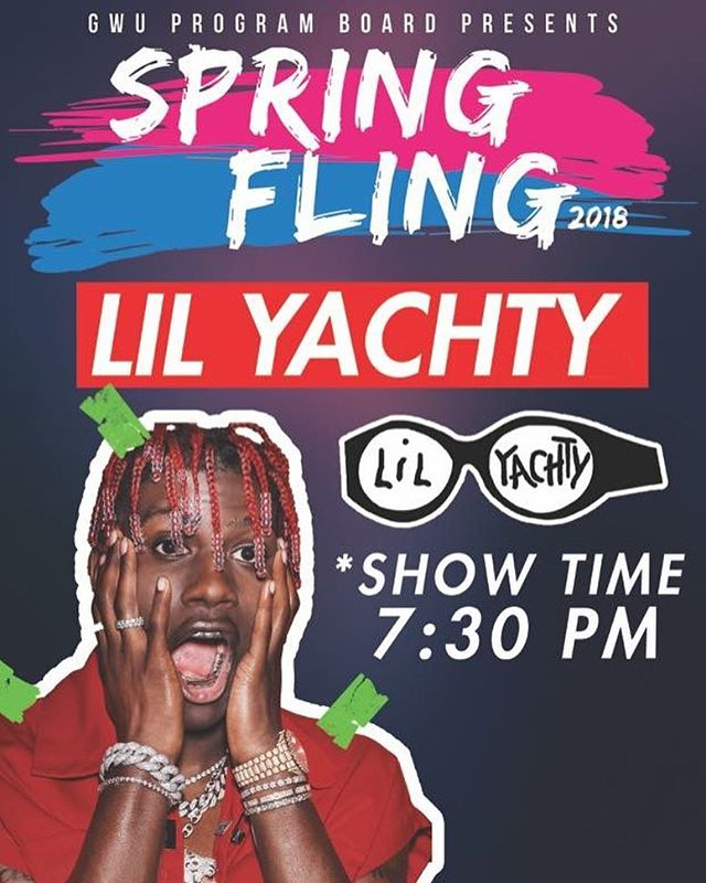 Due to travel circumstances, Lil Pump is unable to attend the show. Lil Yachty is set to perform in UYard at 7:30. In the meantime, come out get your free tank top, ride the mechanical shark, and get your free swag and lots of food.