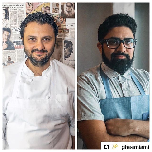 Two of the most exciting chefs of our time in Miami next Sunday @gheemiami. Get ready to devour the explosive flavors from the collab between @chefchintan & @chefniven for one night only. Go to addaghee.eventbright.com for tix. • • •  #Repost @gheemiami with @get_repost ・・・ Next Sunday, August 25th, you're invited to join @chefchintan, Executive Chef of Adda Indian Canteen in New York, and @chefniven, owner and Chef of Ghee Indian Kitchen in Florida, as they combine their explosive flavors under one roof.  Tickets are on sale at addaghee.eventbrite.com  Get yours now! 🔥🍽
