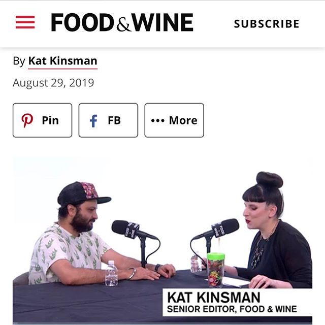 @chefchintan talks about nostalgia, art, and super-cool tech toys with the legendary and lovely @katkinsman @foodandwine for the Communal Table Podcast. ••• We have always admired @katkinsman 's work and believe she is one of the best voices in the industry. It was an honor for chef Chintan to chat with her. ••• #podcast #foodandwine #katkinsman #chefchintan #talks #nostalgia #heart #toys #art #indianfood #unapologetic #food