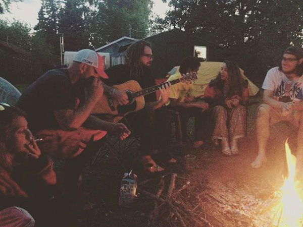 Jake, Pat, and guests @ Base Camp Hostel - Anchorage, AK
