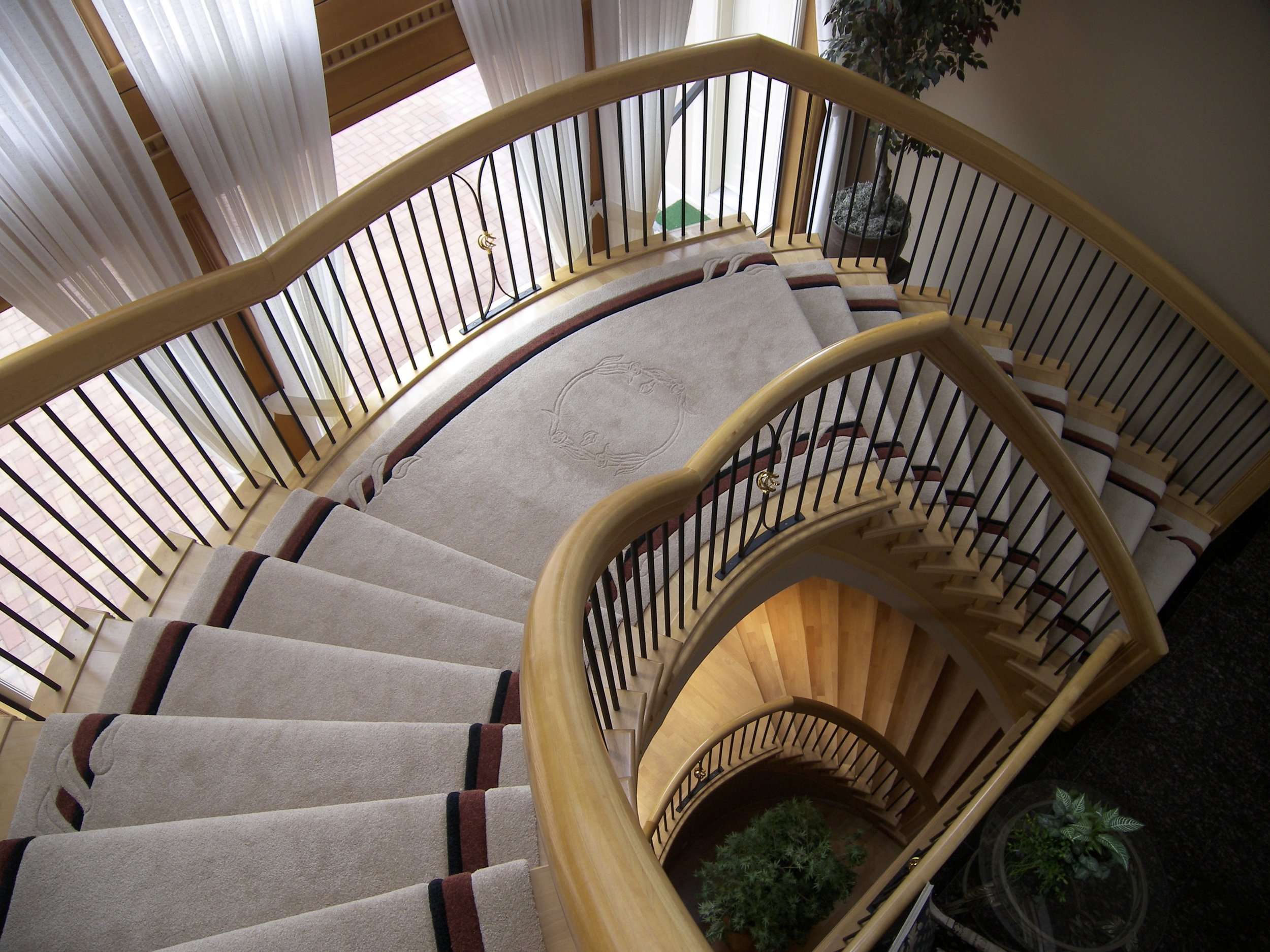 Installation - Installation services by our experienced installers are available for commercial matting and carpets in recessed wells, on stairs, and wall to wall custom carpets.