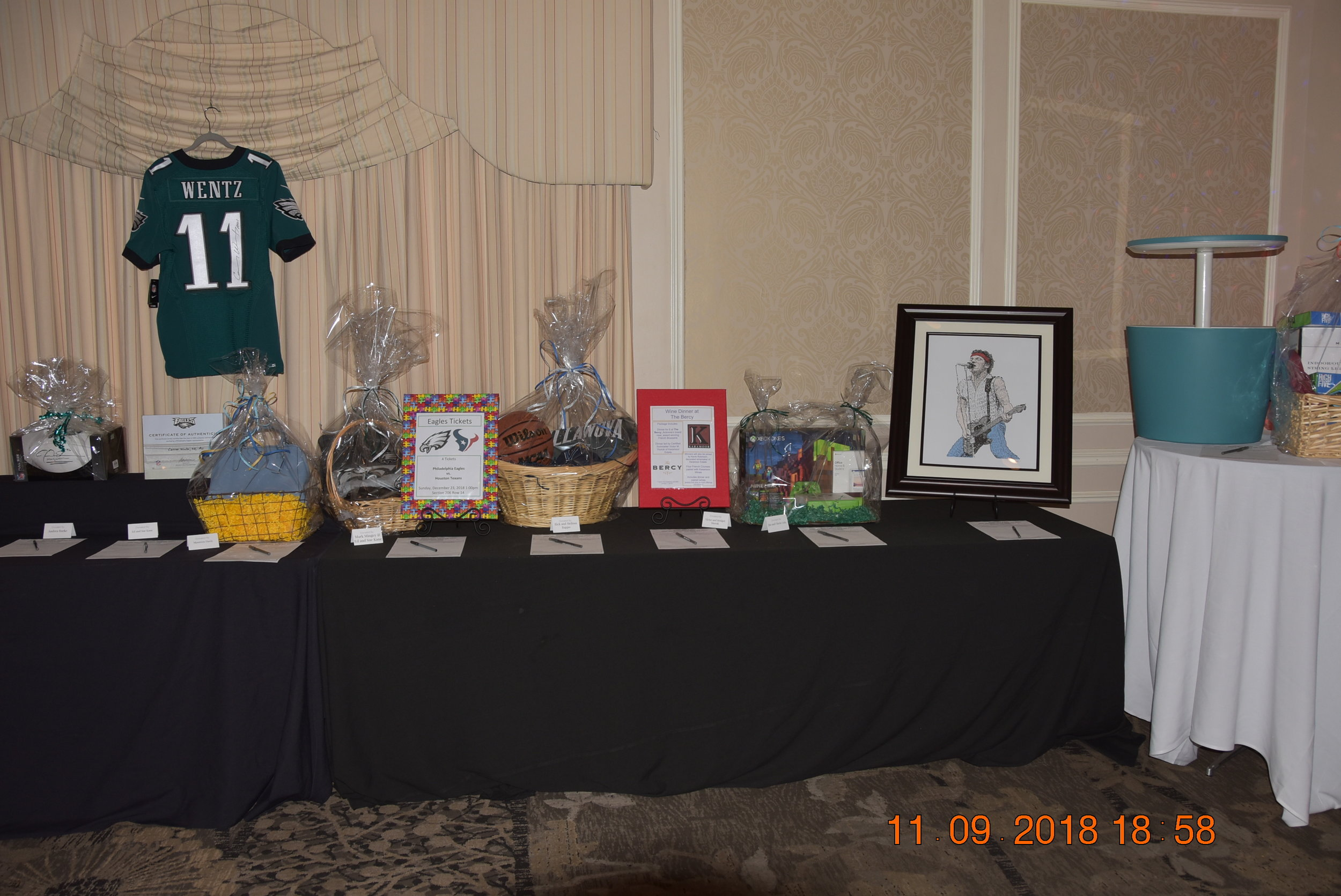 Our auction continues to serve as a highlight at our Social.