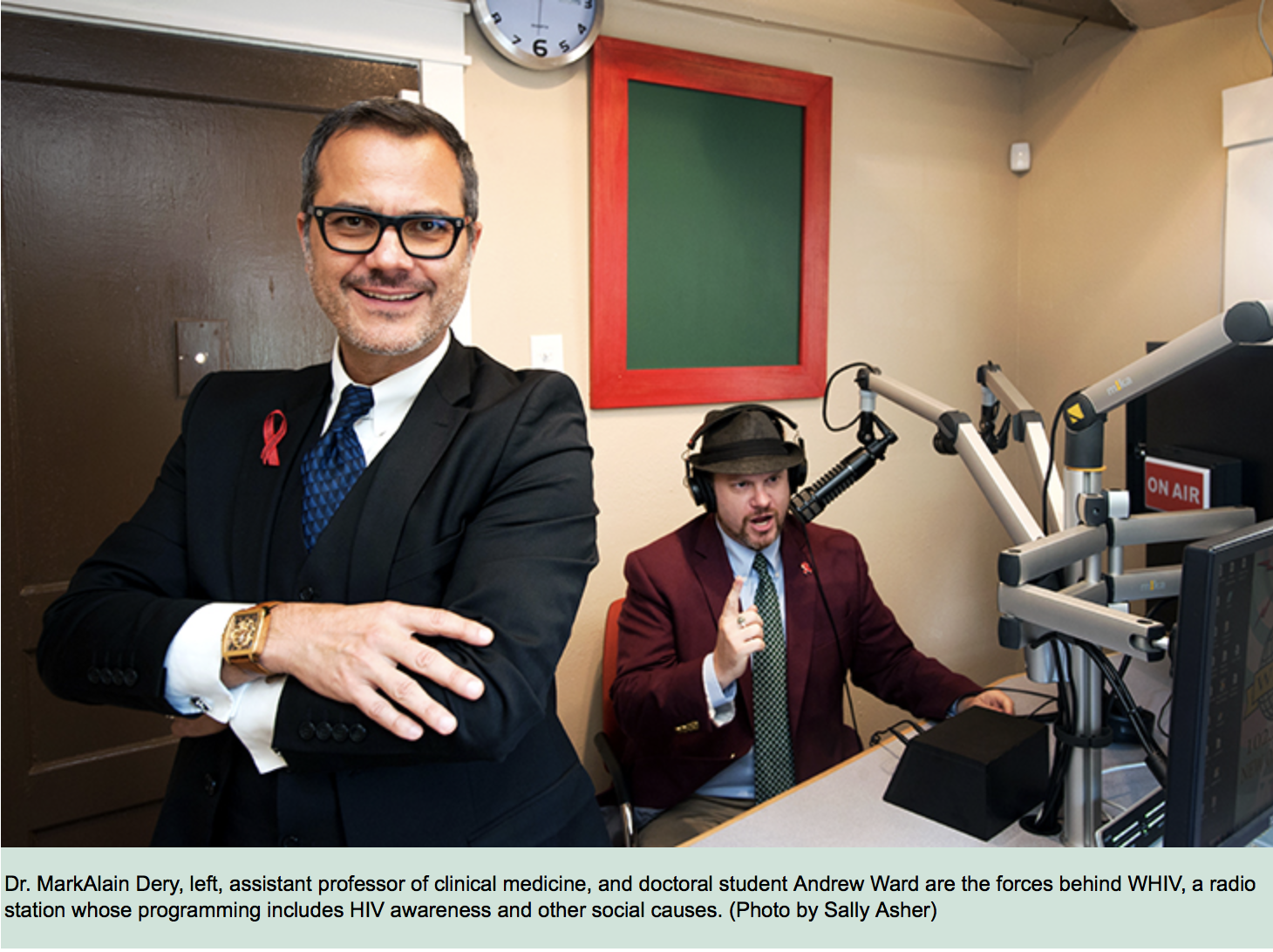 """Making airwaves for social justice - Dr. Dery, assistant professor of medicine at Tulane, called the station WHIV because he wanted the letters repeated over and over to destigmatize HIV and build awareness of the disease. But HIV awareness is only part of the station's story.""""Contemporary radio is corporate radio,"""" says Dery. """"… Community radio 'for the community, by the community' is a concept that has been replaced with just a few voices that continue to support the power structure. WHIV is committed to providing programming dedicated to human rights and social justice.""""Full Article HERE"""