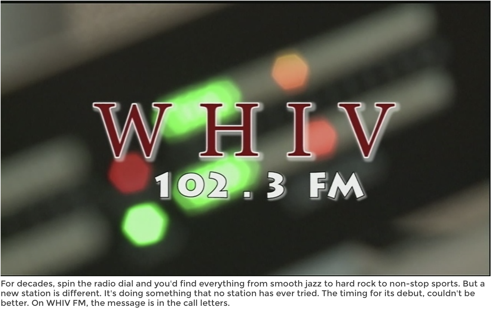 """Radio NOLA HIV: A community radio station - The new radio station on the air has a format unlike any other. It's called """"Radio NOLA HIV,"""" known by its call letters, WHIV.That's not all the station will offer. It's 24/7 coverage is dedicated to bringing human rights and social justice to the forefront -- and giving people a voice.""""It's community radio. And community radio is the voice of democracy, and that's what we're trying to do with WHIV,"""" Dery says.Full Article HERE"""