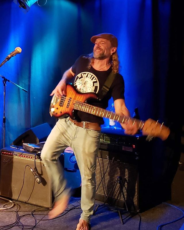 "Sam Price is rocking a WHIV shirt on his European tour! Get yours today at WHIVFM.org and click ""STORE"" Thanks for the support! @honeyislandswampband"