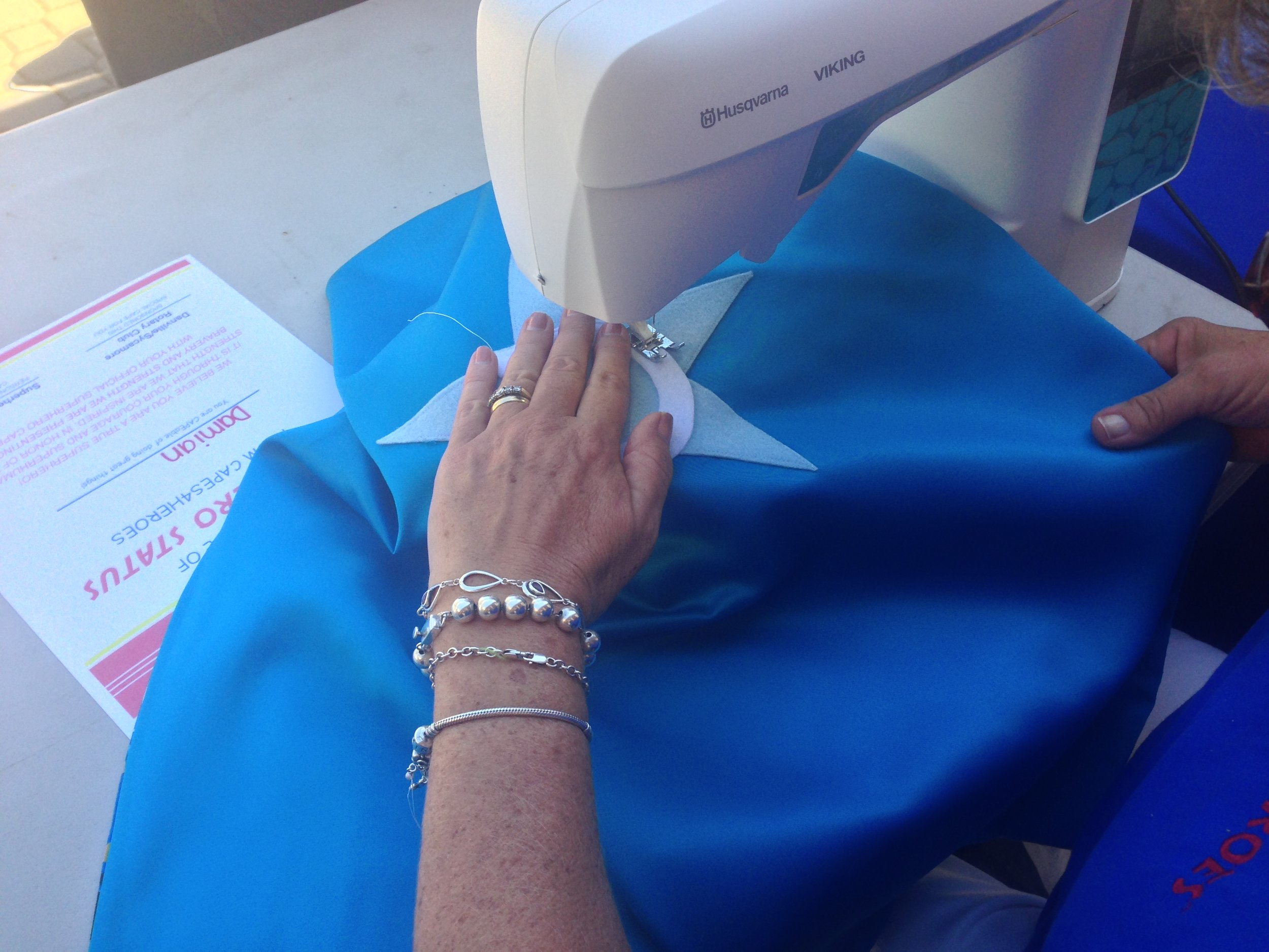 Volunteer - Become a volunteer seamstress and help us sew capes for our little heroes.