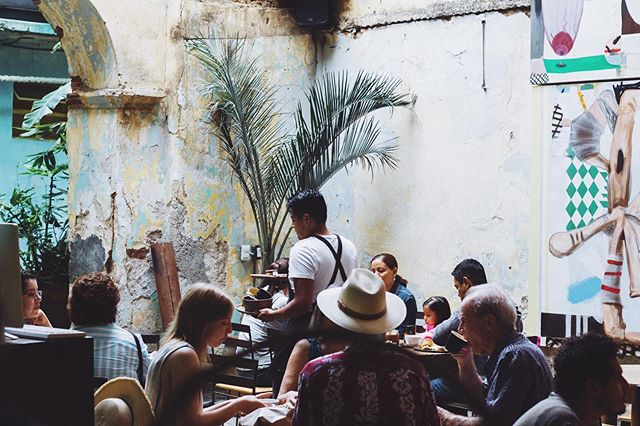 My pop-up is this Saturday. Me and my friends are prepping for a crowd. Mezcal y cafe included. * Lots of beauty to share this weekend. A celebration to attend. * Here is a picture of coffee shop in Oaxaca that makes me happy. Nos vemos.