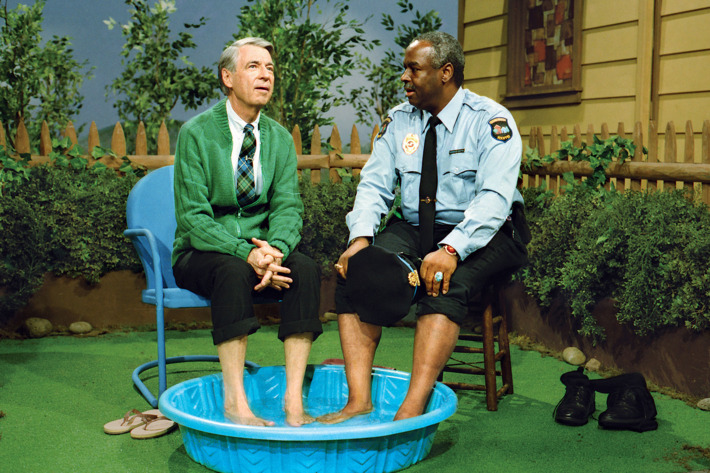 Mr. Rogers and Officer Clemmons.