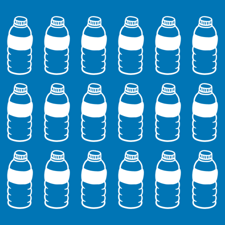 PLASTIC BOTTLES ARE COLLECTED