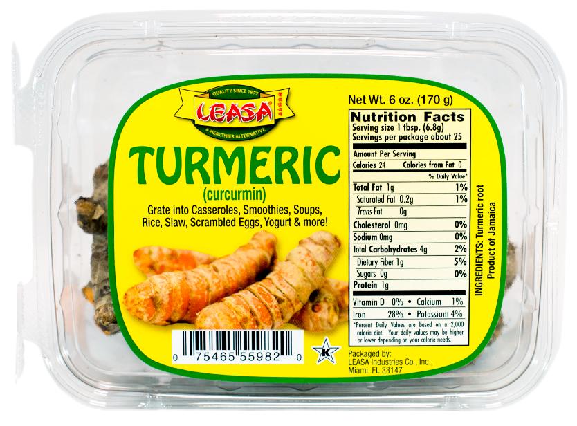 Ingredients: Turmeric root
